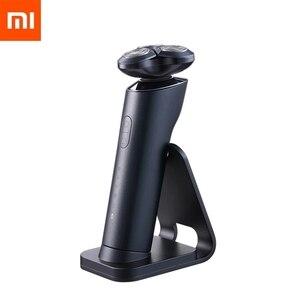 Image 1 - Yeni Xiaomi Mijia S700 elektrikli tıraş makinesi Razor sakal makinesi erkekler için kuru islak ile sakal kesici kafaları düzeltici şarj edilebilir