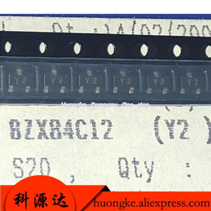 100PCS BZX84C9V1 Mark Z8 BZX84C10 Z9 BZX84C11 Y1 BZX84C12 Y2 BZX84C13 Mark Y3 SOT-23 SOT23 9.1V 10V 11V 12V 13V Zener Diodes