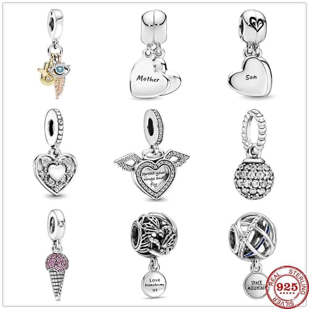 925 Sterling Silver Metal Beads My Wife Always Heart Dangle Charm fit  Original Pandora charms Silver 925 Bracelet Women Jewelry