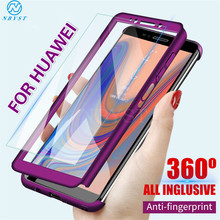 360 Full Protective Phone Case for Huawei P30 Lite P20 Pro P10 P9 P8 P Smart Glass Film Cover for Mate 30 Lite Mate 20 10 Pro(China)