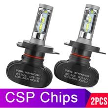2 шт., Автомобильные светодиодные лампы H8 H11 H4 H7 H1 H3 H27 881 HB3 HB4 12 В 50 Вт 6000 лм