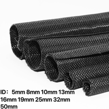 цена на Expandable Braided Cable Sleeve PET Self Closing Insulated Flexible Pipe Hose Wire Wrap Protect