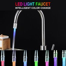 Creative Temperature Sensor LED Light Water Faucet Tap Glow Lighting Shower Spraying Filter Faucet for Kitchen Bathroom