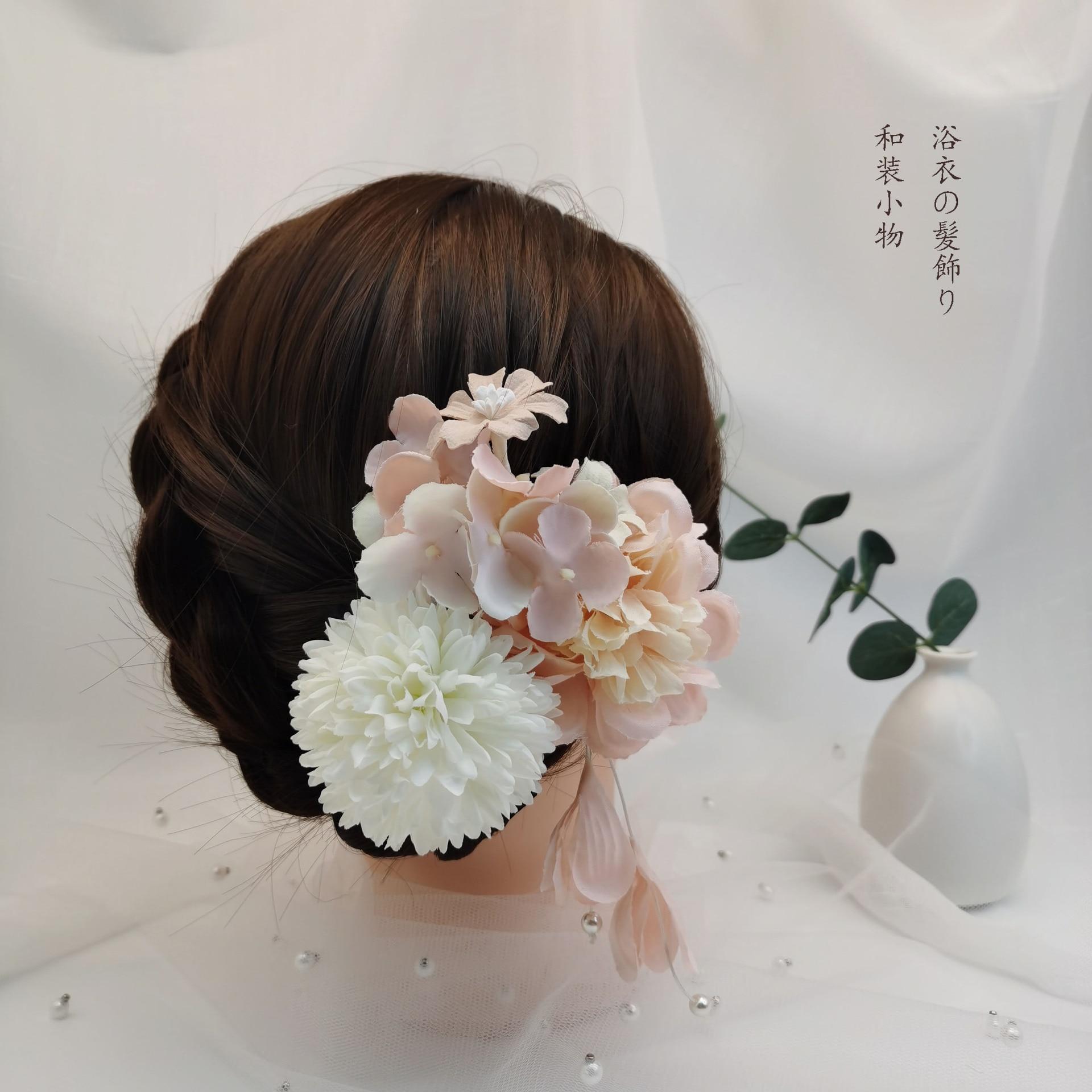 Princess Beautiful Elegant Flower Barrettes Hydrangea Pearl Droop Antique Hair Clasp  hair weeding accessoire
