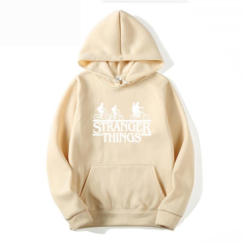 Stranger Things Letter Print 2019 Autumn Hooded Women Mens Hoodies Sweatshirts Oversized Hip Hop Winter Men Fashion Long Sleeve