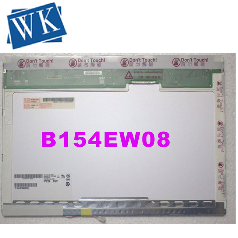 Free Shipping 15.4'' Laptop Lcd Display Screen B154EW08 V.1 N154I3-L02 B154EW02  LTN154X3 LTN154at02 LP154W01 LP154WX5 LP154WX4