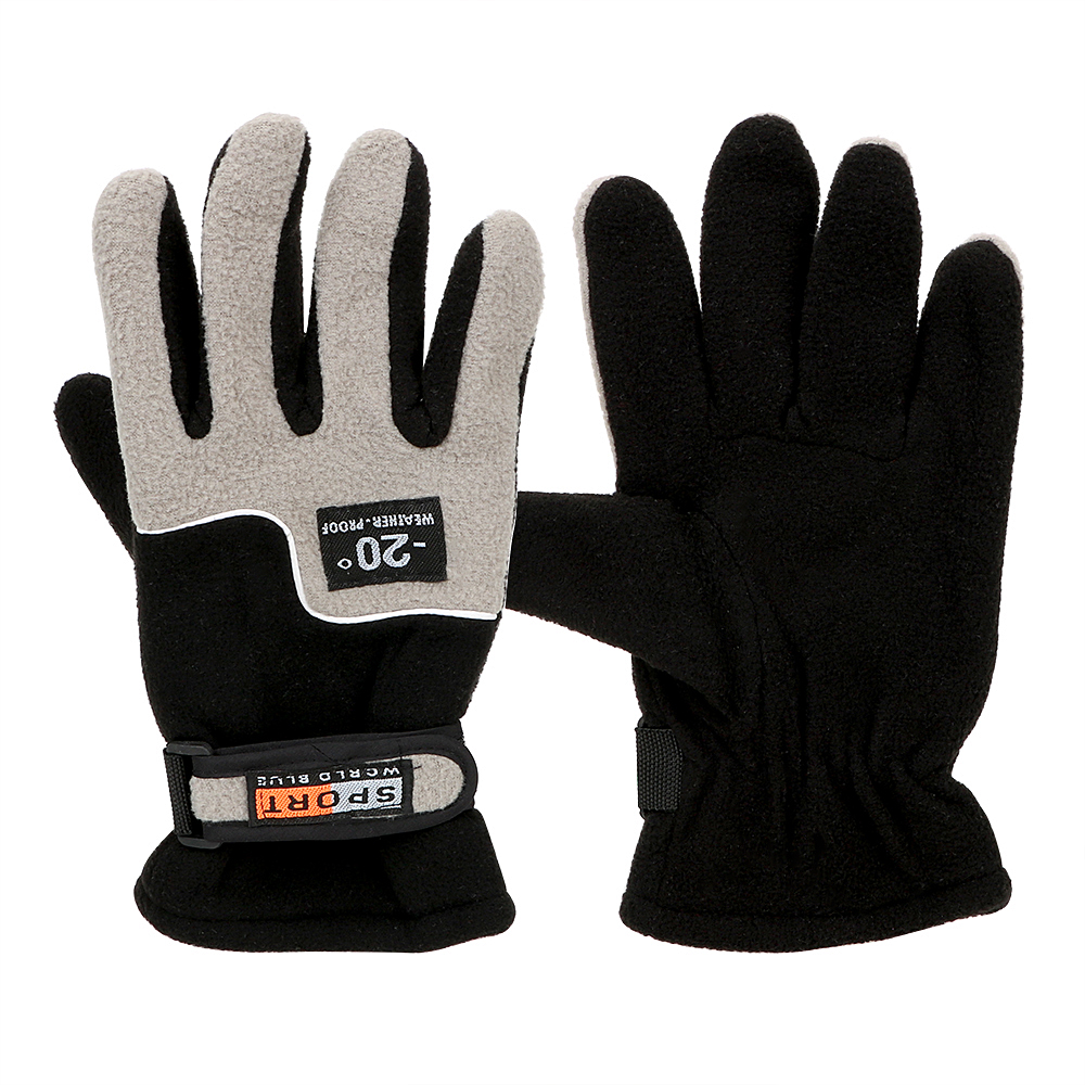 Winter Warm Guantes Motocycle Gloves Motorcycle Protective Gears Waterproof Windproof Soft Fleece Full Finger Ski Riding Gloves