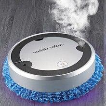Robô aspirador de pó doméstico carregamento usb inteligente esfregões umidificação spray multifuncional seco molhado aspirador de pó para casa