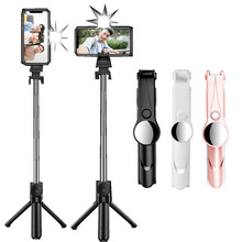 Palo Selfie SPASH 3 en 1 Bluetooth Mini trípode extensible monopié ith soporte para teléfono con luz de relleno para todos los teléfonos