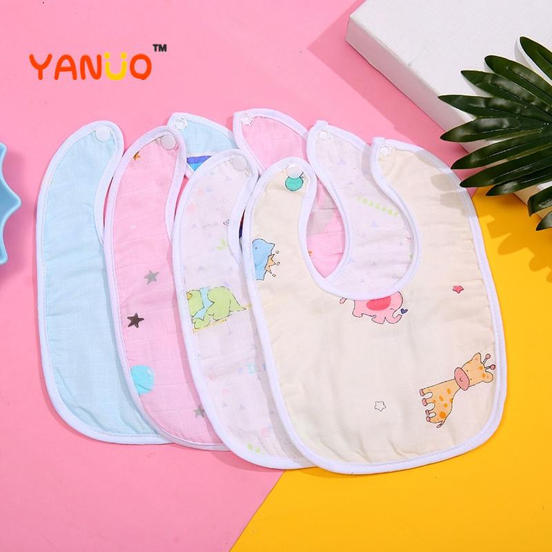 Newborn Baby Boy Baby Scarf Waterproof Saliva Baby Bib Saliva Towel Bib Cartoon Soft Lint Bib (Suede + PU Waterproof Layer)