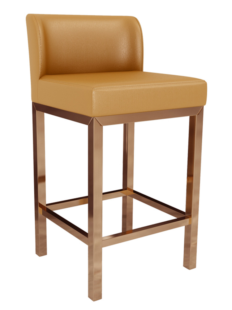 Front Desk Chair Back High Foot Bar Chair Domestic Bar Chair Jewelry Store Special Stool Cash Counter Reception Chair