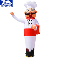 4m Air Dancers Sky Dancer Inflatable cook Man Puppet Wind Flying Promotional Balloons Advertising Wave
