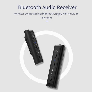 Bluetooth 4.2 Receiver Pen Clip Headphone Adapter For iPhone Handfree Wireless Music Adapter For Wired Headsets For Xiaomi image