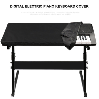 Elektroniczne pianino cyfrowe osłona klawiatury pyłoszczelna trwała składana dla 88 61 Key DIN889 tanie i dobre opinie Poliester bawełna Piano Keyboard Cover Nowoczesne