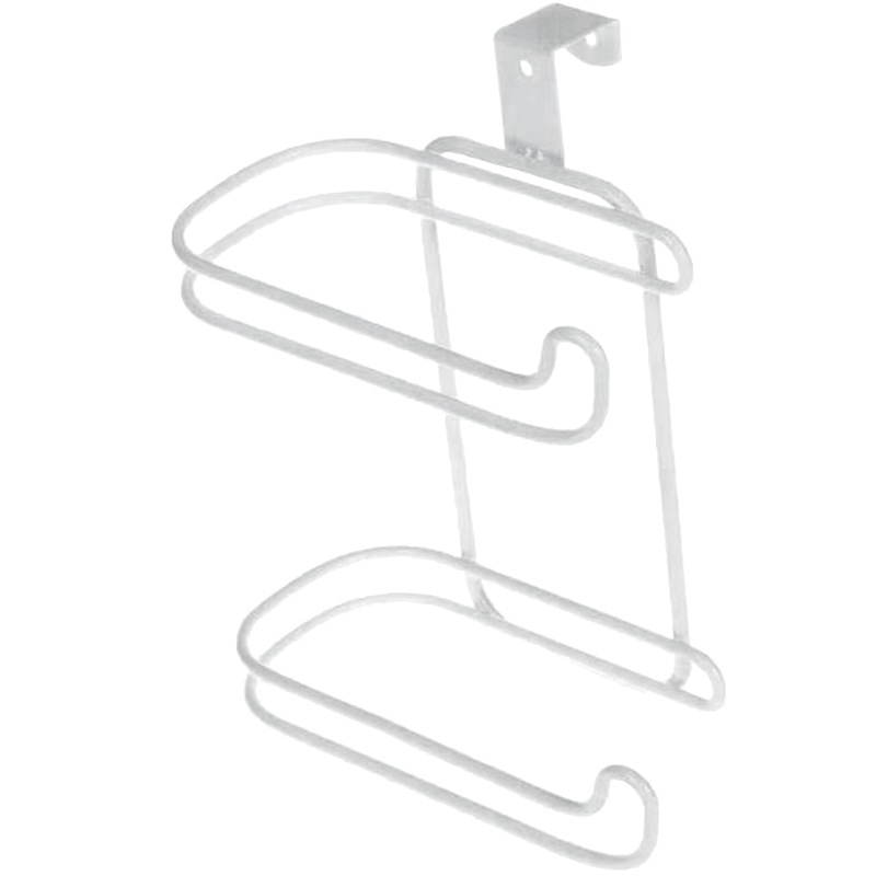 Double Layer Toilet Paper Towel Rack Kitchen Multi Function Paper Towel And Hook Nail Free Partition Kitchen Utensils Hook Rack|Hooks & Rails| |  - title=