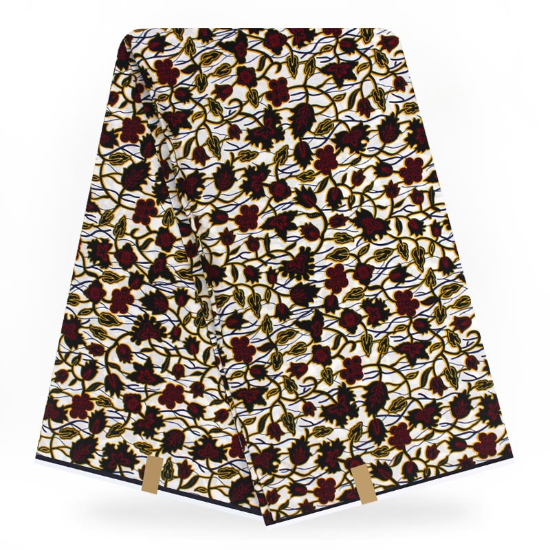 African Fabric Wax Print 6yard Pagne Wax Tissus African Ankara Fabrics Real Wax 100% Cotton Sewing Material