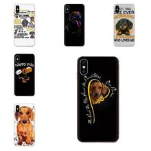 Dachshund Silhouette Dog High Quality Phone Case For Galaxy J1 J2 J3 J330 J4 J5 J6 J7 J730 J8 2015 2016 2017 2018 mini Pro(China)