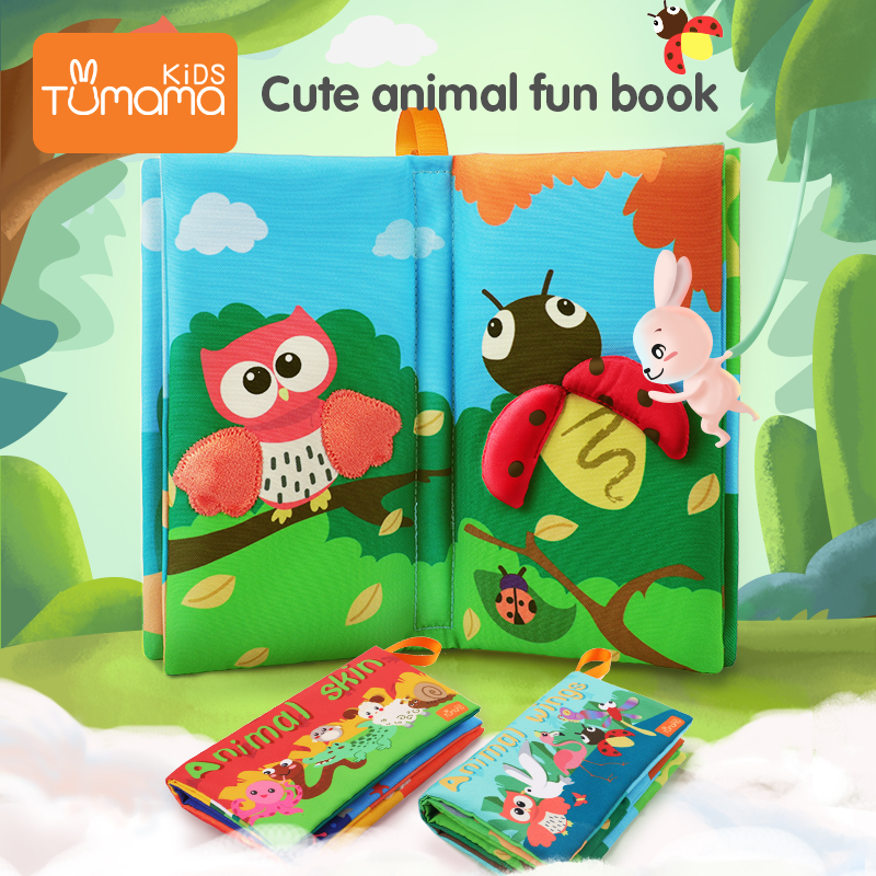 Tumama Baby Cloth Book 3D Washing Does Not Fade Soft Fabric Sponge Cloth Books For Kids Learning Educational For Newborn