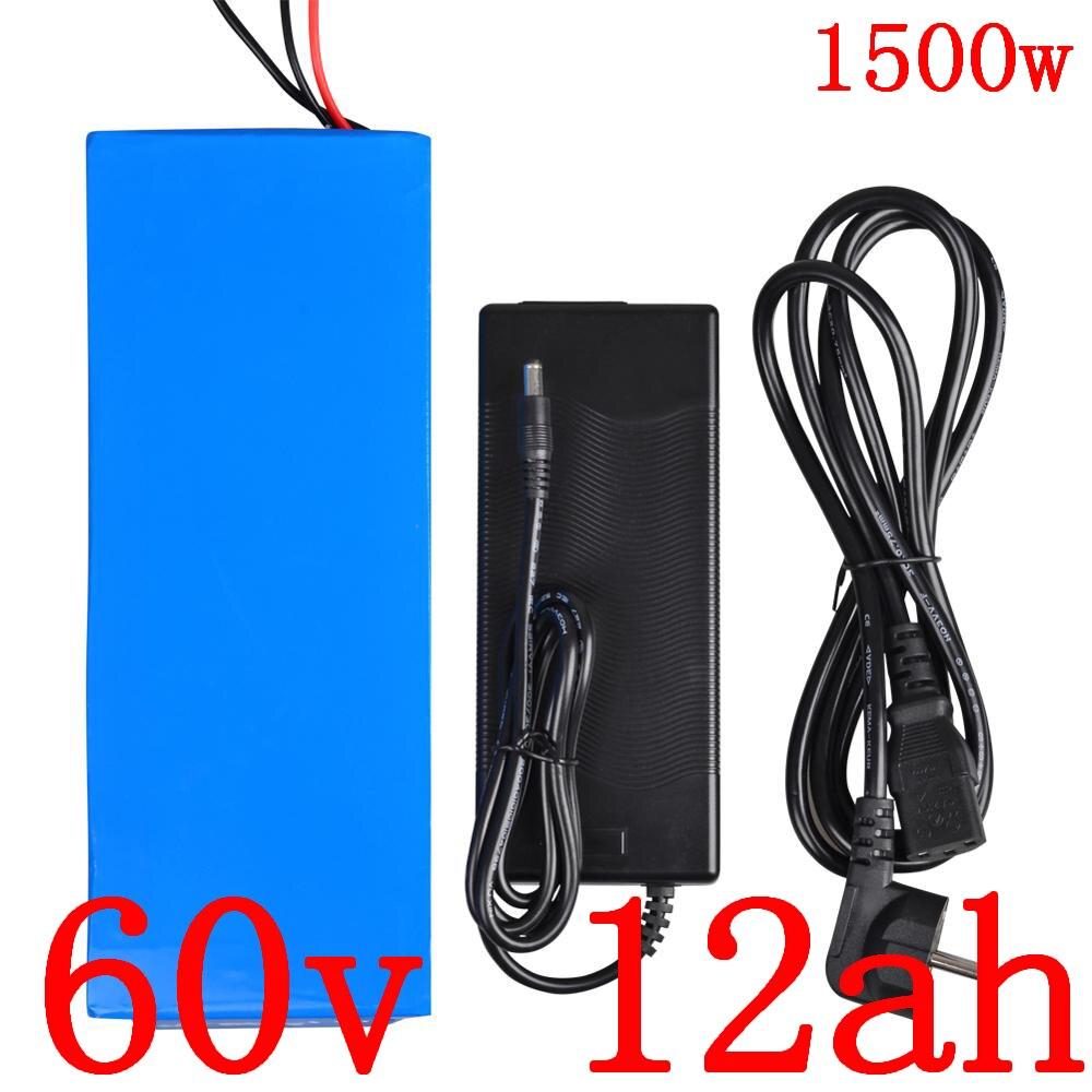 Batterie 60v batterie Lithium ion 60V paquet 60V 1000W 1500W 1800W batterie scooter électrique 60v 12ah batterie vélo électrique