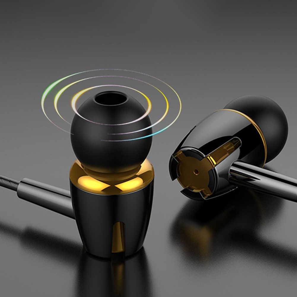 Universal 3.5 Mm In-Ear Earphone Heavy Bass Stereo Kabel Earphone Olahraga Headset dengan MIC untuk iPhone Samsuan Huawei Наушники