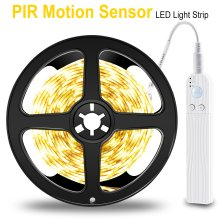PIR LED Strip Motion Sensor LED Keukenkast Licht Tape LED Flexibele Strip Licht Waterdicht Slaapkamer Night Lamp 5 V kast Lamp