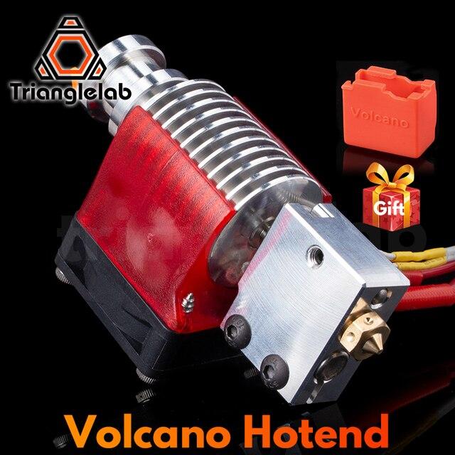 Trianglelab V6 Volcano Hotend 12V/24V Fernbedienung Bowen Druck J kopf Hotend Und Lüfter Halterung für E3D HOTEND Für PT100