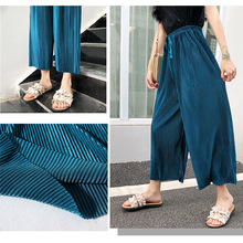 Summer New Children Anti Mosquito Pants Baby Girl Thin Casual Loose Knitted Trousers Toddler Icing Wide Leg Pant Kids Clothes