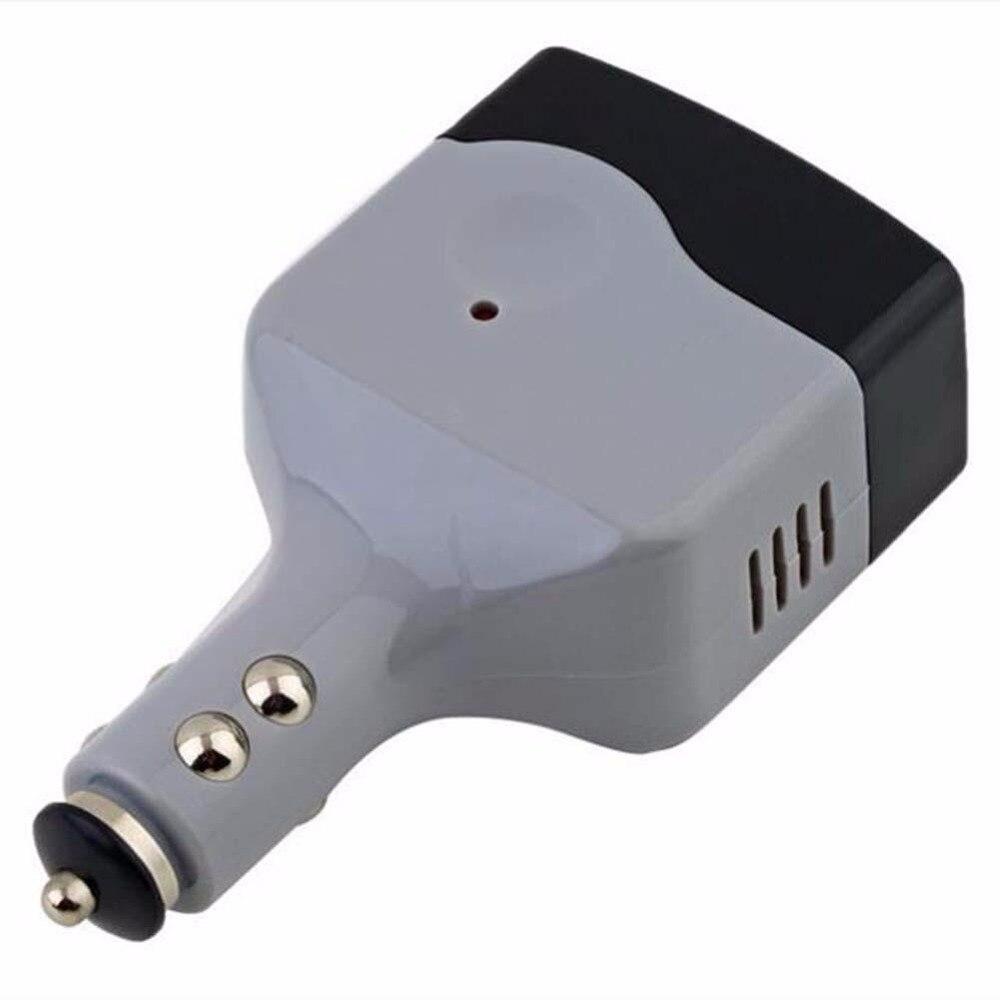 1 шт. адаптер преобразователя питания 12 В постоянного тока в 220 В автомобильный Автомобильный преобразователь питания адаптер USB штекер высо...
