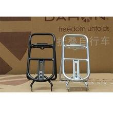 14 polegada 16 polegada dobrável bicicleta traseira cremalheiras k3 para dahon bya412 liga de alumínio prateleira traseira dobrável rack traseiro v freio