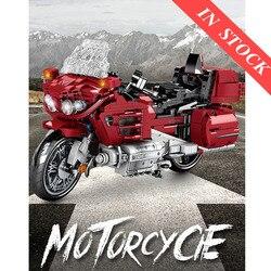В наличии 1205 шт. 701944 технический мотоциклы в собранном виде Наборы кубиков строительные блоки модель создатель подарки для мальчиков и дете...