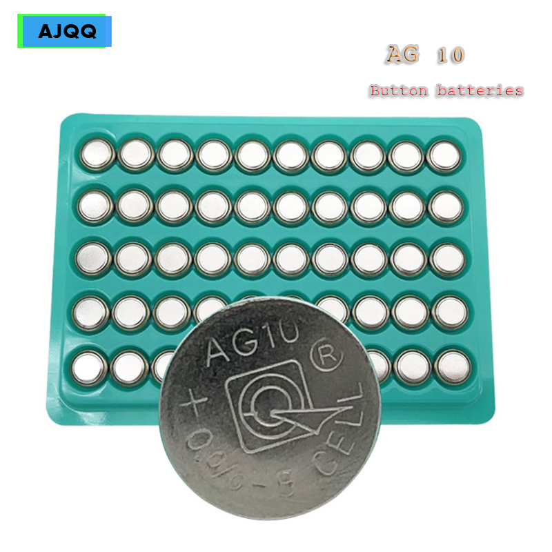 New wholesale 100 PCS <font><b>AG10</b></font> <font><b>1.5V</b></font> button <font><b>battery</b></font> LR1130 1130 SR1130 389A LR54 L1131 189 389A Alkaline watch <font><b>battery</b></font> image