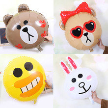Childrens Toys Cartoon Balloons Birthday Party Decoration Day Cute Little Bear Ducklings Bunny Rabbits