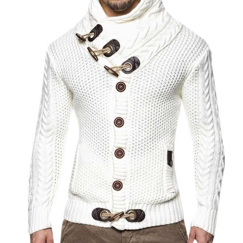 Winter Hoge Hals Dikke Warme Trui Mannen Coltrui Merk Mens Slim Fit Trui Mannen Truien Mannelijke Plus Size 3XL