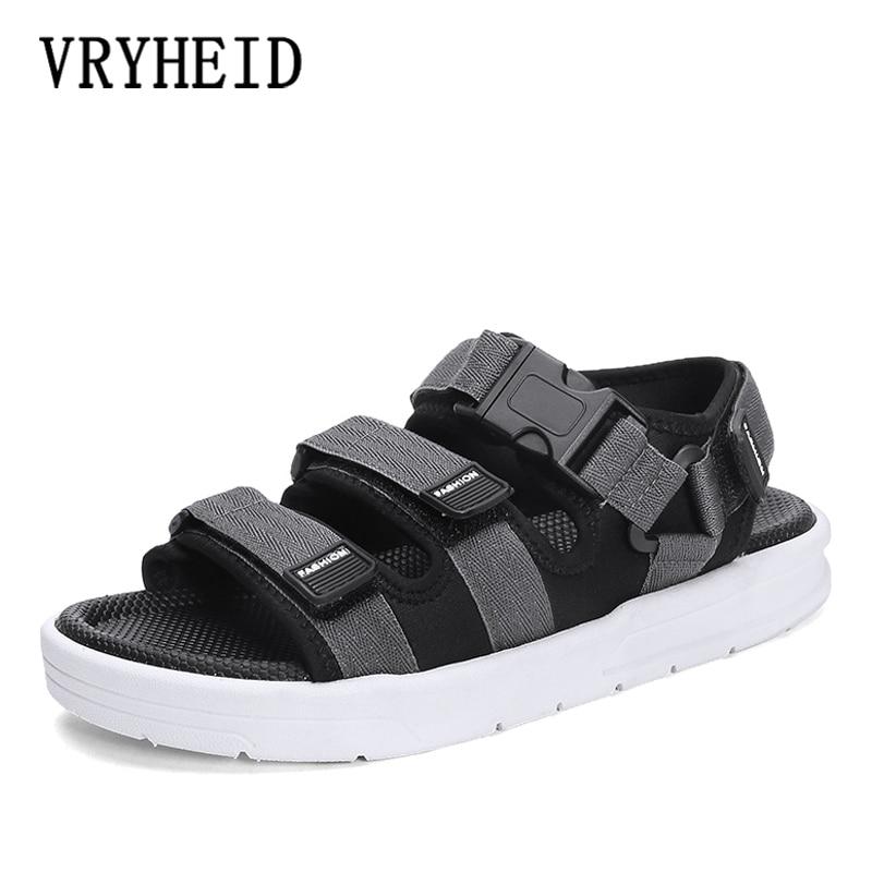 VRYHEID Sandalias de Hombre gladiadores zapatos romanos informales al aire libre transpirables Sandalias de Hombre de verano cómodo luz Sandalias Hombre
