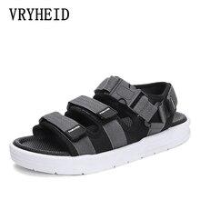 VRYHEID Sandalias de gladiador informales para Hombre, zapatos romanos transpirables para exteriores, ligeras y cómodas, para verano