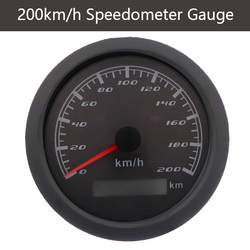 New Speedometer Gauge 120 km/h 200 km/h With Left Right High Beam Indicator Lights Car Boat Speed Meter Without GPS Antenna