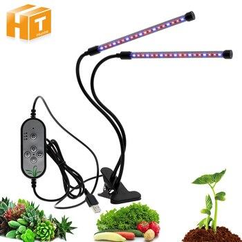 LED Grow Light with 360 Degrees Flexible Clip USB Power Supply Desktop Plant Growth Light.