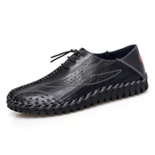 Men's Shoes Fashion Men Leather Casual Shoes Moccasins Flats Breathable Driving Shoes Men High Quality Boat Shoes Loafers цена 2017