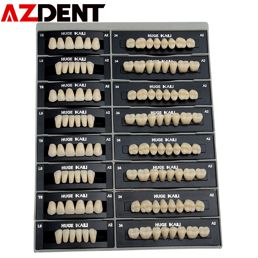 28teeth/pack /4 Set Dental Synthetic PolymerTeeth Resin Denture A2/A3