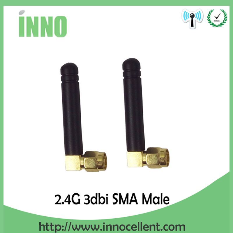 2pcs 2.4Ghz Antenna Wifi SMA Male Connector 2~3dbi 2.4 Ghz Wifi Antena 2.4G Wi Fi Antenne Small Size Antenas Waterproof