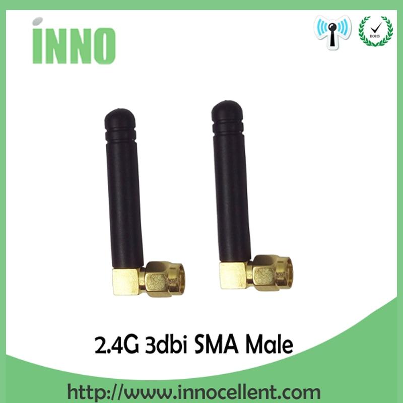 2pcs 2.4Ghz Antenna Wifi SMA Male Connector 2~3dbi 2.4 Ghz Wifi Antena 2.4G Wi Fi Antenne Small Size Antenas Waterproof