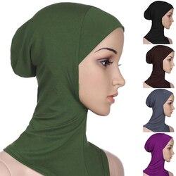 Vrouwen Islamitische Onder Sjaal Klaar Te Dragen Moslim Volledige Cover Inner Hijab Caps Zachte Effen Kleur Vrouwelijke Moslim Hoofd tulband Motorkap