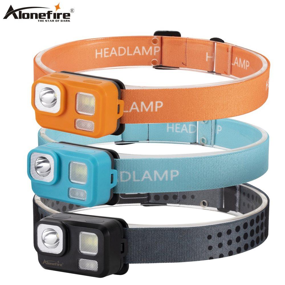 Alonefire HP46 Mini Head Lamp Waterproof Flashlight Headlight Headlamp Torch Lanterna With Headband