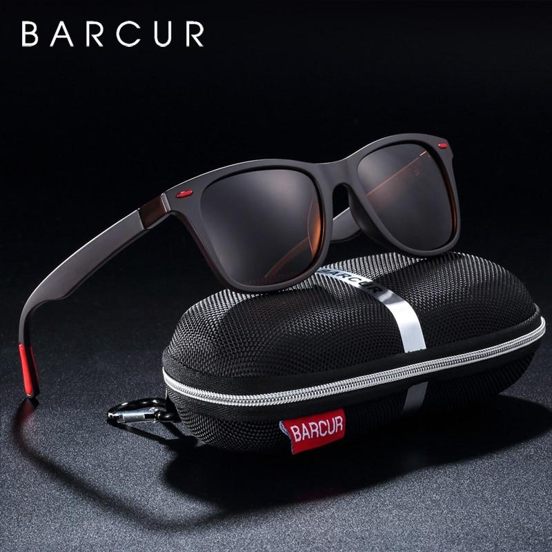 BARCUR Trending TR90 Polarized Sunglasses Women Square Eyewear Men Sun Glasses Vintage Unisex Goggle Male UV400 Oculos De Sol