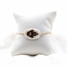 FAIRYWOO Punk Evil Eye Gold Bracelets For Women Miyuki Bead Bracelet Handmade Ethnic Charm Bracelet Jewelry Gifts For Girls
