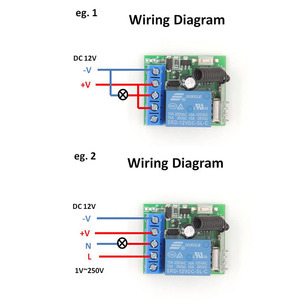 Image 3 - 433MHz Universal Lange range Remote Control DC 12V 10Amp 1CH 4 gangs rf Relay Receiver and Transmitter for gate door opener