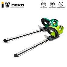 DEKO, 20 в, литиевый, 1500 мА/ч, беспроводной триммер для живой изгороди, быстрая зарядка, перезаряжаемый электрический триммер, обрезная пила с двойным лезвием/пила