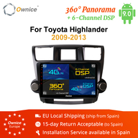 Ownice K1 K2 K3 K5 K6 Octa Core 2DIN Universal Android 8.1 Car Radio DVD Player for Toyota HIGHLANDER 2009 2010 2011 4G LET DSP