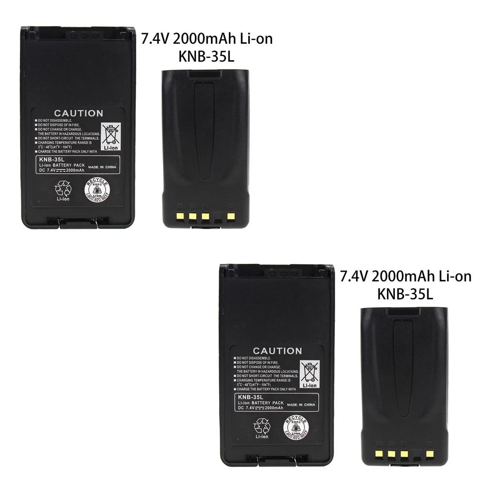 2x Pack - KNB-35L Battery Replacement (2000mAh, 7.4V, Li-Ion) For Kenwood TK-3360 TK-3160 TK-2170 KNB-57L TK-3173 TK-3170 NX-320