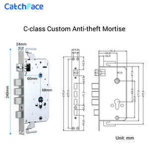 Image 5 - TTlock APP Biometric Fingerprint Door Lock Keyless Smart Lock WiFi Bluetooth Fingerprint Lock Electronic Home Lock Dual Battery